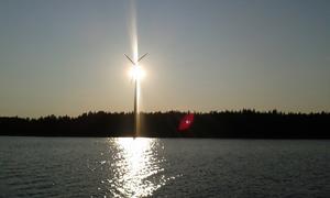 Sol, vind och vatten på Barnens ö. Foto Kjell Johnson
