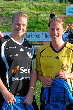 Bästa spelarna. Tova Linder och Jeanette Råsbo. Foto: Niclas Bergwall