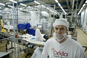 Joel Wiklund, ansvarig för Orklas två pizzalinjer