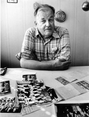 Åke Andersson, Sop-Åke, fotograferad 1982.