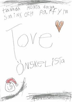 Av Tove Olsson, 7 år.
