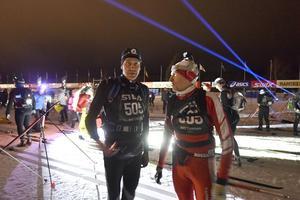 Ulf Edsfors och Åke Eriksson från Orsa redo för start.