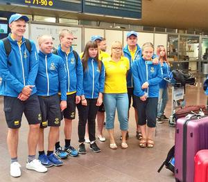 Friidrottarna som representerade Sverige i Special Olympics World Summer Games.