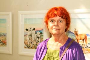 Nöjd. Agneta Wågman, ordförande i föreningen Ljusstråk, var väldigt nöjd med invigningen och omfattningen av samlingsutställningen.