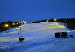 Förra säsongen kunde man inte öppna Skönviksbacken förrän den 23 januari.