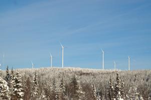 Havsnäs vindkraftpark i Strömsund.