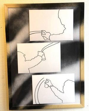 """""""Konst/Vandalism"""".  Av Lisa Hollsten."""