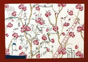 ... och har flera häftiga textilier på Galleri S.