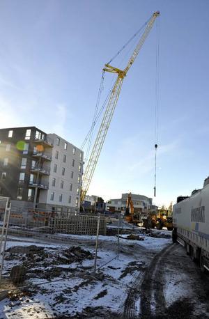 Nästa år vid den här tiden ska det finnas tio våningar till på höghuset i Valhall.