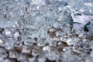 En ruta krossades och gods stals vid inbrottet på apoteket i Liden.