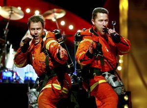 Brandsta City Släckers gjorde succé i Melodifestivalen med