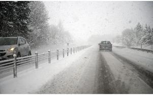 I eftermiddag, torsdag, väntas stormen Sven in till Dalarna. Det kan bli uppemot tre decimeter snö och vindstyrkor upp till 27 meter i sekunden. Foto: Björn Larsson Rosvall / TT Nyhetsbyrån