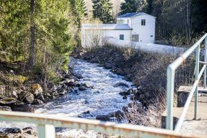 Ett av vattenkraftverken i Galvån.