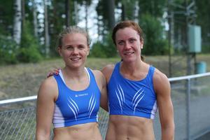 Nikki Sjöberg(till vänster) och Malin Ström tävlar för Bollnäs FIK.