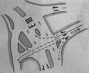 Så här åker fordonen på bilden. Grafik från 1963 i VLT.
