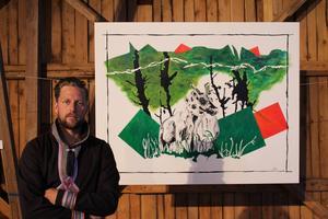 Niklas Blindh ger i sin konst uttryck för sin passion för den samiska världen.