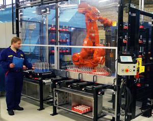 Automatiserad produktion vid Sandvik Coromants fabrik i Gimo.