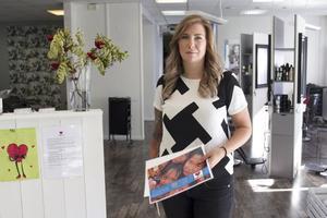 Trivs. Jessicas engagemang för Hair aid är stort, och hon hoppas att fler frisörer ska bli intresserade av att delta.