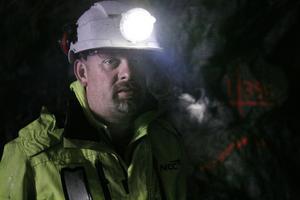 Här är arbetsmoralen hög. Magnus Felldin, platschef vid NCC:s bergavdelning