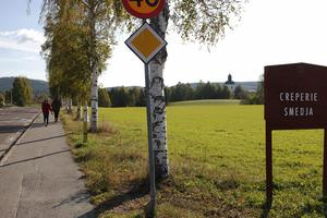På den här marken bredvid Stenevägen i Järvsö vill Ljusdalshem bygga trygghetsboende med 24 lägenheter.