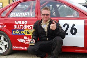Oskar Sundell var snabbast av alla på Flygstaden i lördags.