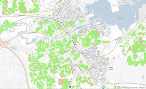 Kartan publicerades på kommunens hemsida under onsdagen.