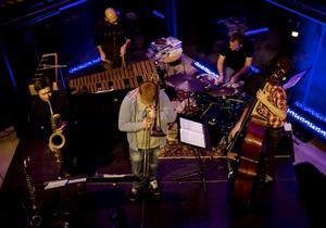 Alberto Pinton Quintets harmonier och disharmonier stämde väl med kvällslyktornas blänk i Gavleåns rinnande vatten.