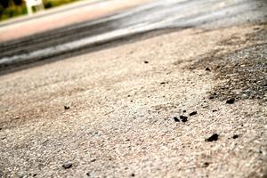 ...och det blev en hel del däckrester kvar på asfalten.