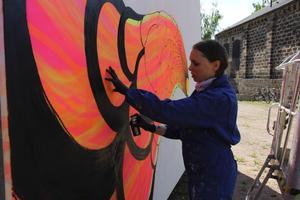 Grafittitavlan ska representera