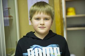 Hampus Larsson, 10 år, Flärke:– Inte så ofta, jag läser ingen tidning och inte på nätet heller.