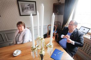 AnnSofie Andersson, kommunstyrelsens ordförande och Ulf Edström, ordförande finansutskottet i Östersunds kommun är båda nöjda med den nya lösningen för Verkö Slott.
