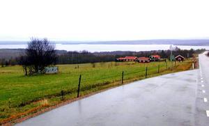 En del av Siljan och Rättvik från Söderås.