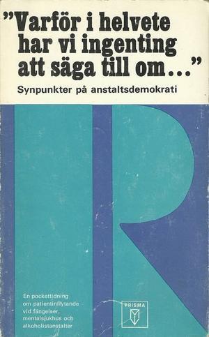 Det första numret av Pockettidningen R är bar den talande titeln:
