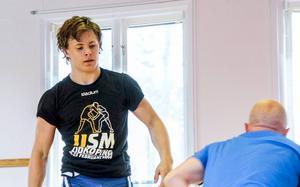 Carl Ågren från Söderhamns brottarklubb tog brons på junior-SM.