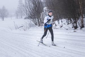 Hanna Kjellin, Forsa OK, tog hem segern i damernas sju-kilometerslopp.
