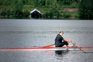 Carolina Berggren, 15, hoppas ta sig in på roddgymnasiet i Strömstad i höst.