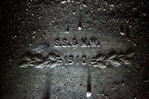 Spishällen har ägarparets initialer ingjutna. Foto: Stefan Nolervik