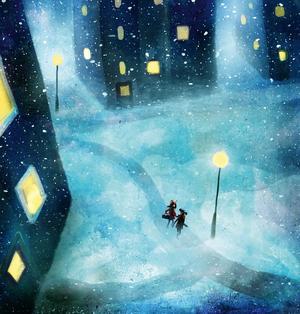 Siri Spont har skrivit en julsaga som utspelar sig bland höghusen. Foto: Alexander Jansson