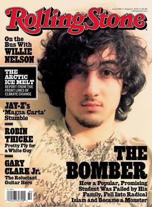 Rolling Stones omslag pryds vanligtvis av en stjärna inom musik, tv, film eller politik. Så var passar en misstänkt mördare in?Foto:Scanpix