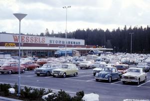 Från Wessels parkering på 1970-talet.