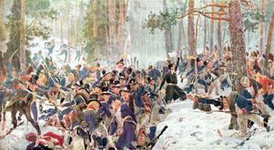 Slaget vid Trangen den 25 april var ett blodigt slag där de svenska trupperna omringades av det norskdanska motståndet.