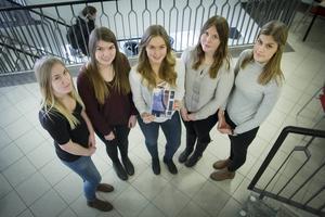 Clara Jonsäll, Elin Nyberg, Hilma Berg, Christin Artursson och Jessica Landare har tillsammans skrivit boken På egna ben.
