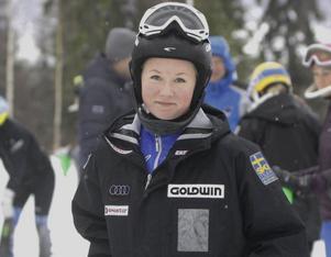 Tessan Berglund pustar ut efter söndagens Alpsvängen där hon slutade sjua.