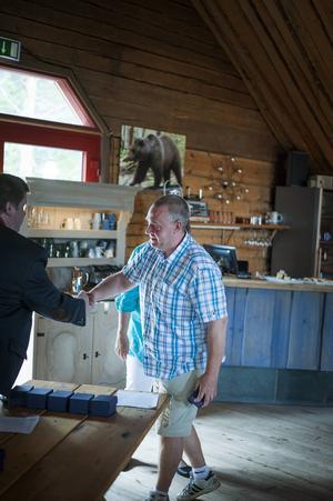 Jörgen Paalanen tog även emot Järvsö IK:s fairplay-pris.