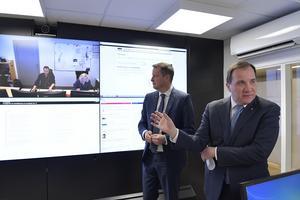 Inrikesminister Anders Ygeman (S) och statsminister Stefan Löfven (S).