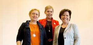 Dora Vig Bjon, Gerd Wallin och Annica Järking, engagerade affärskvinnor i nätverket Qoola qvinnor.