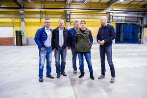 Tobias Eriksson, Hudikhus, Henrik Sonerud, Oilquick, Malin Hagberg och Anders Eriksson, Hudikhus, samt Jon Larsgården tror att köpet kommer att gynna Hudiksvall.