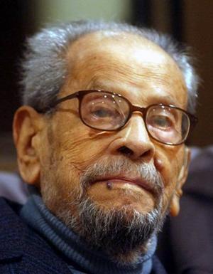 Naguib Mahfouz. Egyptisk författare (1911–2006).