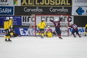 Jonas Svensson fick släppa in tre bollar när Ljusdal föll mot Katrineholm.