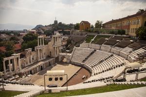 Ett av dragplåstren i Plovdiv - en mysig stad som har rätt få utländska turistbesök.